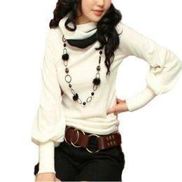 Wholesale Stylish Womens Tops - 2018 New Womens Stylish Cotton Blouses Long Puff Sleeve High Collar Casual Slim Tops Shirts Plus Size S-3XL Blusas Femininas