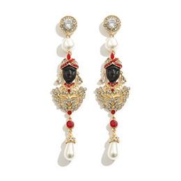 Gioielli boho zingari online-LUXURY NEW Ethnic Turkish Style Oro Orecchini lunghi per le donne Boho Party Gypsy Thailand Jewelry