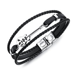 c371c1d2a China Genuine Leather Bracelet Men Multilayer DIY Chain Men Stainless Steel  Jewelry Magnet Buckle Drop Ship