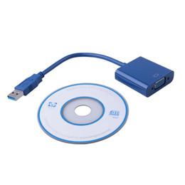 Tarjeta de video vga online-Elistooop 2018 USB 3.0 a VGA Convertidor de múltiples pantallas Convertidor Tarjeta gráfica externa de video para WIN7 WIN8 Vista