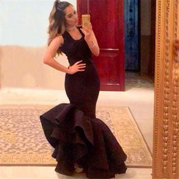 b16d88018c28c purple maternity dresses for special occasions 2019 - Gorgeous black arabic  Mermaid Evening Gowns 2018 Satin