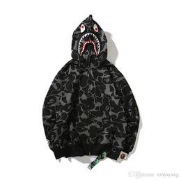 Argentina Nuevo Otoño Invierno Nueva Impresión Negro Camo Hoodies Juvenil Casual Con Capucha Hip Hop Personalidad Sudaderas Chaqueta Escudo cheap winter jacket youth Suministro