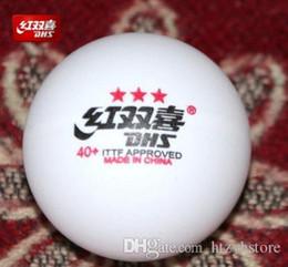 Argentina Venta al por mayor- Nuevo 1 caja DHS 3 estrellas 40mm + Cell free Table Tennis Balls Pingpong Balls Tenis De Mesa 82001 Suministro