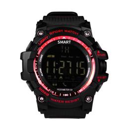 notification bluetooth Promotion EX16 Bluetooth Smart Watch Notification Télécommande Horloge Podomètre Sport Montre IP67 Étanche Hommes Montre-Bracelet
