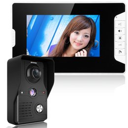 Комплект видеотелефона онлайн-Free Shipping! 7 Inch Video Door Phone Doorbell Intercom Kit 1-camera 1-monitor Night Vision with IR-CUT 1000TVL Camera