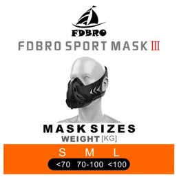 Wholesale Training Face - Sport Mask High Altitude Training Mask 2.0 With Box Updated Face Mask S M L
