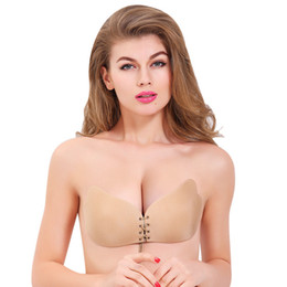 d48dd05b06 Seamless Invisible Bra Adhesive Silicone Backless Bralette Strapless Push  Up Bra Sexy Lingerie Fly Bra Women Underwear fashion