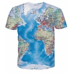 mondes drôles t-shirts Promotion Marque 3D T Shirt Hommes Carte Du Monde T-shirt Drôle T Chemises Mâle Été À Manches Courtes Anime Tops Tee Mode Hommes Vêtements