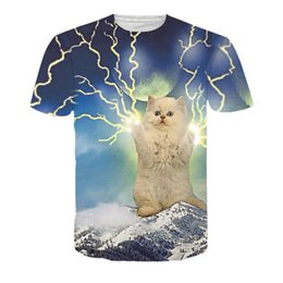 34ae0ae6 Summer Fashion Thundercat T-Shirt Fearless Kitty Cat Playing With Lightning T  Shirts Harajuku Tops Tees Casual For Women Men P4 cheap t kitty