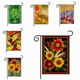 Wholesale Outdoor Hanging Plants - Plant Printing Garden Flags Outdoor Hanging Garden Flags American Style Flags Party Decorations Home Decor 30*45cm 10 Styles YW331
