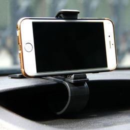 Wholesale Clip Mobile Holder - Universal Car Phone Holder Adjustable Dashboard Mount Clip Mobile Smart Phone GPS Stand Bracket For iphone 6 6s 7 8 Plus