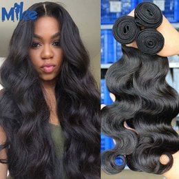 Wholesale High Quality Hair Products - Malaysian Indian Peruvian Brazilian Virgin Hair High Quality Human Hair Weaves 3 Bundles Body Wave Brazilian Weaves MikeHAIR Products