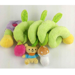 Wholesale Infant Lathe Hanging Toys - Wholesale- 2016 New Infant Toys Baby Crib Revolves Around The Bed Stroller Playing Toy Crib Lathe Hanging Baby Rattles Mobile