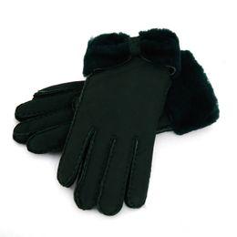 2019 настоящие кожаные перчатки теплые зимние женские кожаные перчатки настоящие шерстяные перчатки женщины 100% гарантия качества скидка настоящие кожаные перчатки