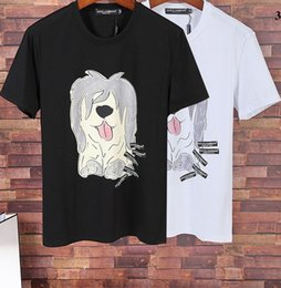 Wholesale Xl Dog Clothes - High Quality Simple Fashion Of Men Luxury Designer Cartoon Dog Print T-Shirts Casual Short Seelve Mens Clothing Cotton 100%