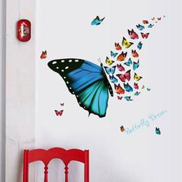 Stickers muraux décoratifs 3D voler les chambres de papillon adhésif à la décoration murale amovible Home Decor Livraison gratuite ? partir de fabricateur