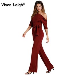 87e91a01667 sexy army jumpsuit for women Coupons - Viven Leigh Sexy One Shoulder Skew  Neck Jumpsuits EleBow