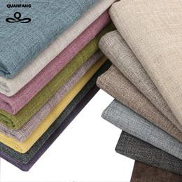Medidor de lino online-QUANFANG Sólido tela de algodón de lino colo para remiendo Acolchar / DIY Costura / Sofá mantel / Muebles cubierta de tejido / Cushion Meter
