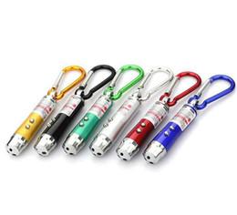 Wholesale Mini Led Keychain Light Red - Lights LED Mini Flashlight Aluminum Alloy Torch without carabiner 3 in1 Ring Keychain Mini Flashlight Red Laser Pointer Ring Keyring DHL
