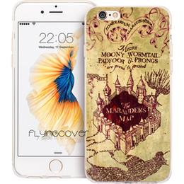 Canada Fundas Harry Potter Carte Clear Soft TPU Couverture de Téléphone Silicone pour iPhone X 7 8 Plus 5S 5 SE 6 6S Plus 5C 4S 4 iPod Touch 6 5 cas. Offre