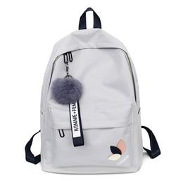 Bolsas de estudiantes universitarios online-2018 bolsas de la escuela de la muchacha mochila Sólida para adolescente Girls College viento Mujeres SchoolBag Alta bolsa de estudiante negro de nylon de impresión
