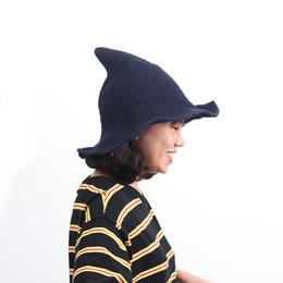 2019 хэллоуин шляпы сделать Современная Шляпа Ведьмы Из Высококачественной Овечьей Шерсти Halloween Witch Hat Для Праздничной Вечеринки И Подарка дешево хэллоуин шляпы сделать