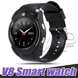 hd wrist watch Promo Codes - V8 Smart Watch Sport SmartWatch With 0.3M Camera SIM IPS HD Full Circle Display For Android System