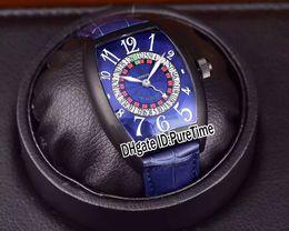 2019 nuevo reloj ruso Nuevo 8880 Las Vegas Casino Tornillo ruso PVD Negro Acero Dial azul CAL.SK Reloj automático para hombre Correa de cuero azul Barato Puretime A36a1 nuevo reloj ruso baratos