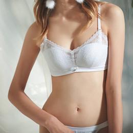 a0c55ec03e Wriufred Sexy Translucent Bandeau Underwear Bra Lace Wire Free Bralette  Adjusted-straps Push Up Bras Winter Women Lingerie Sets