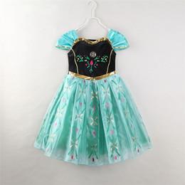 Wholesale Fairy Models - Children's Wear summer burst models girls dress skirt snow princess dress adventure green dress