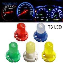 2019 зеленые автомобили 50X T3 COB автомобилей светодиодный индикатор приборной панели приборов лампа DC12V панели лампы желтый красный белый синий зеленый автомобиль интерьера лампы скидка зеленые автомобили