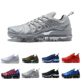 2019 scarpe da corsa di mens migliori Scarpe da ginnastica TN Plus di alta qualità da uomo argento in metallo oreo triple nero TRAINERS donna bianco verde oliva DESIGNER SNEAKERS US5,5-11 scarpe da corsa di mens migliori economici
