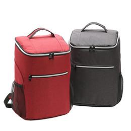 20L сумка для пикника водонепроницаемый мешок льда тепловой обед коробка сумка для хранения кемпинг холодный напиток рюкзак для вечеринки на открытом воздухе от