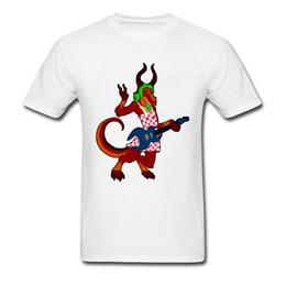 Wholesale Unique Rocks - Heavy Metal Rock Geek T Shirts Men Summer Cool T-Shirt Unique Design Demon Monster Print Tee-Shirt Male Free Shipping