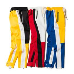 Wholesale Full God - Fear Of God Sweatpants 2018 New Justin Bieber Men Women Streetwear Fear Of God Pants Drawstring Zip Joggers Sweatpan