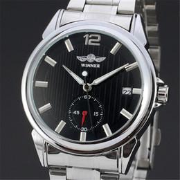 Argentina GANADOR Top Brand Luxury Men's Reloj de pulsera Hombres Sport Clock Automatic Mechanical Watches Male Steel Skeleton Clock 060 cheap winner skeleton watch sport Suministro