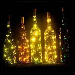 tende rosse calde Sconti 15LED 2M 20LED Lampada a forma di sughero Tappo bottiglia di vetro leggero vino LED argento bottiglia filo LED String Lights For Xmas Party Wedding Halloween