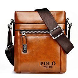 Piccole valigie online-Borsa uomo 2017 famosi uomini di marca borse a tracolla in pelle affari valigetta maschile piccole borse a tracolla per uomini borsa da viaggio crossbody