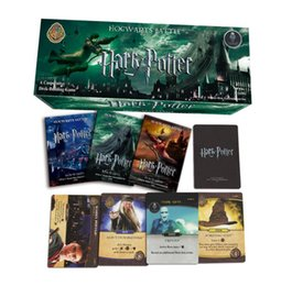 Wholesale Board Settings - 408 PCS SET Harry Potter English Cards Game Funny Board Game English Edition Collection Cards For Children Gift toys KKA4992