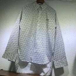 Conception de chemises d'hiver pour hommes en Ligne-Hiver Europe Vetements Mode Oversize Chemise Irrégulière Casual Allover Print Femmes Hommes Streetwear Top Design