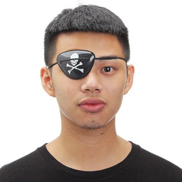 Wholesale Wholesale Pirate Eye Patch - 1PCS Random Pirate Eye Patch Eye Mask Eyeshade Cover Plain for Adult Lazy Amblyopia Skull Patch