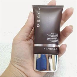 Maquillaje facial online-De calidad superior Becca Ever-Matte Poreless Priming Perfector 1.35 oz / 40 ml Maquillaje de imprimación facial Primer base de becca Primer libre