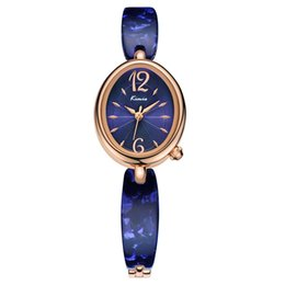 Wholesale kimio brand for watch - 2018 New Kimio Fashion Brand Colorful Strap Watches Women Oval For Clockl Quartz Casual Wristwatches For Watch Female