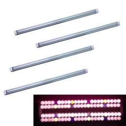 Forma completa online-380-800nm ​​Full Spectrum LED Grow Light LED Tubo de cultivo 8Ft T5 T8 Tubo de integración en forma de V para plantas médicas y floración Color rosado