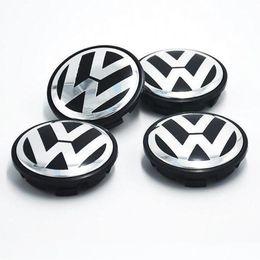 Hub de roda vw on-line-Venda quente 65mm Tampa de Roda Do Carro Emblema Hub de Roda VW Centro Caps Emblema Para VW 2010 TOUARET