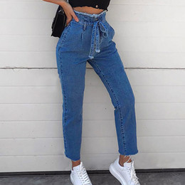 276884bd1ba9e Feitong 2018 Women High Waist Trimmings Slim Denim Skinny Jeans Pants Belt  Trousers With Sashes. Supplier  pulchritude