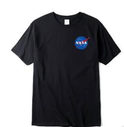 2019 camisetas frescas Hombres MA1 Camisetas NASA Moda Tees Verano Casual Ocio Fresco Manga Corta Camiseta Tops camisetas frescas baratos