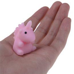 Mini rose silikon online-Einhorn Tiere Modelle Cute Mini Soft Silikon Squishy Spielzeug Zappeln Hand Squeeze Prise langsam steigende Presse
