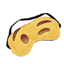 Спящие маски с завязанными глазами онлайн-Прекрасный Emoji Nap уход за глазами тени с завязанными глазами сна Маска глаза обложка спальный мультфильм 3D печать сна Маска для глаз