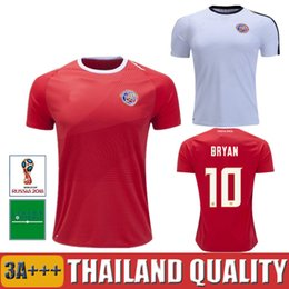 Wholesale white campbell - 2018 Costa Rica soccer jersey 18 19 Costa Rica home away white Camisa de futebol JOEL CAMPBELL 2018 football shirt world cup maillot